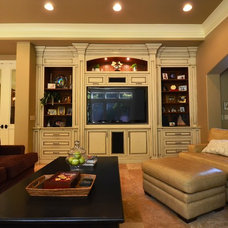 Mediterranean Family Room by Story Design and Construction, Inc.