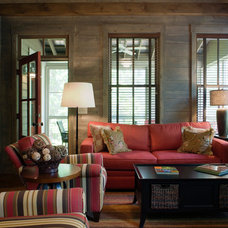 Rustic Family Room by Our Town Plans