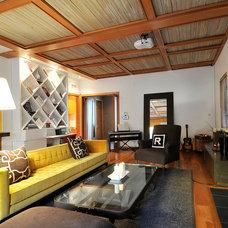 Contemporary Family Room by Carolyn Baylon Design