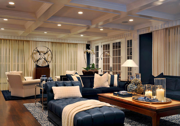 Contemporary Family Room by Carolyn Miller Interiors