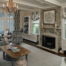 Eclectic Family Room by Ricciardi Interiors