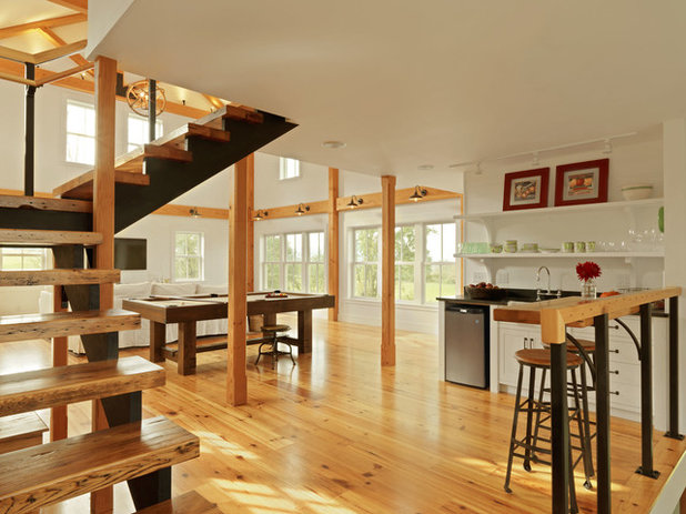 Houzz tour a transformed carriage house opens for play for Renovating a barn into a house