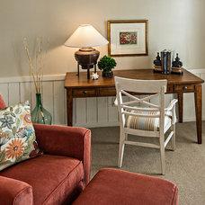 Transitional Family Room by Adler-Allyn Interior Design