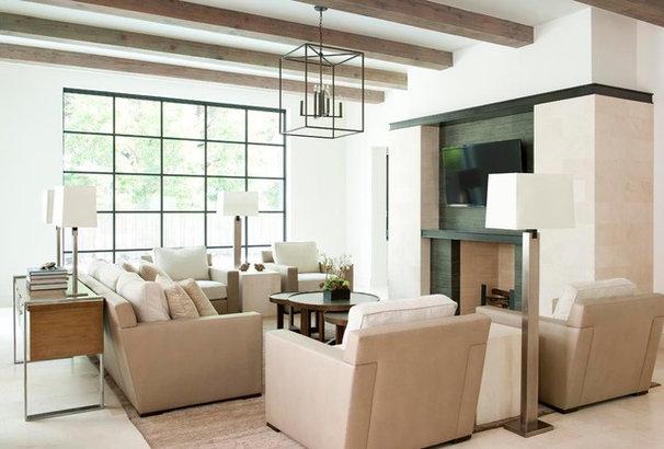 Contemporary Family Room by TATUM BROWN CUSTOM HOMES