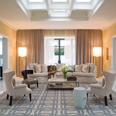 contemporary family room by Jamie Herzlinger