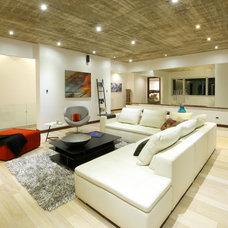 Contemporary Family Room Casa Zero Guatemala City