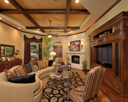 Odd Shaped Rooms Family Room Design Ideas, Renovations & Photos with a