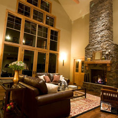 traditional family room by dC Fine Homes & Interiors