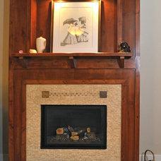 Craftsman Family Room by Erin Johnson Interiors, LLC