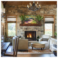 Traditional Family Room by Southern Studio Interior Design