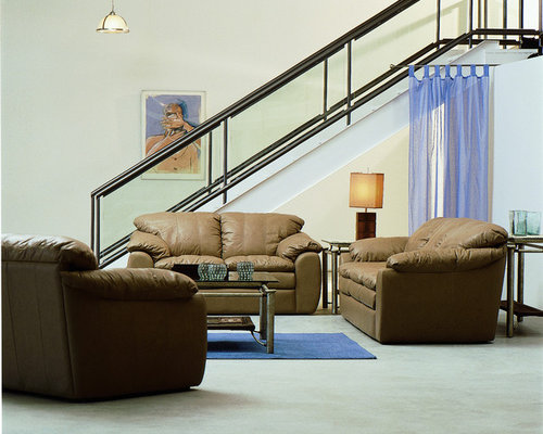 Save Casual Contemporary Leather Sofa