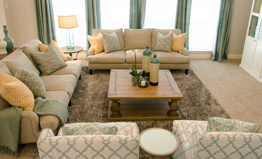 Casual Country Chic Family Room