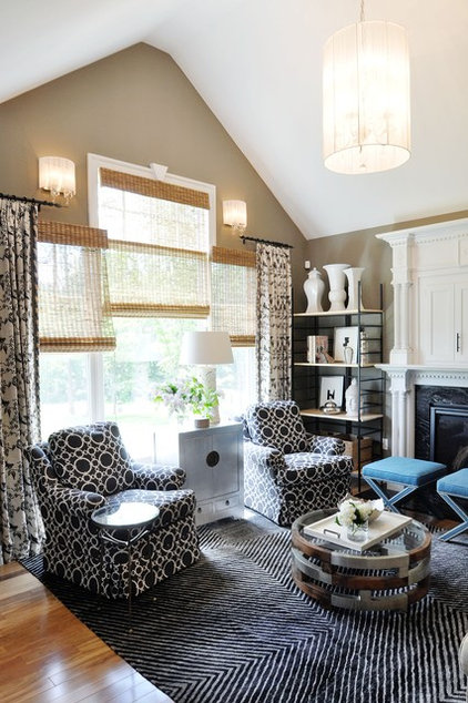 Traditional Family Room by Erika Bonnell Interiors