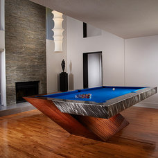 Contemporary Family Room by Mitchell * Exclusive Billiard Designs *