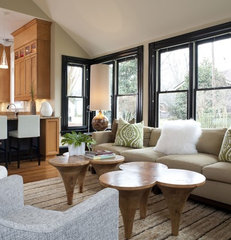 contemporary family room by Catherine Boardman Interiors
