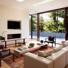 Modern Family Room by Kasten Builders