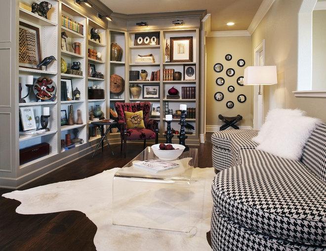 Contemporary Family Room by CDA Interior Design