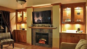 Cedar Falls Fireplace Wall
