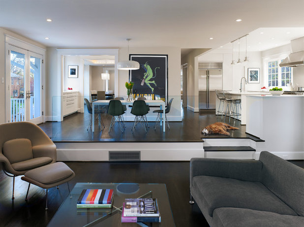 Contemporary Family Room by Moore Architects, PC