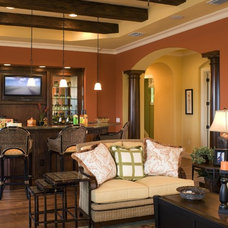 Mediterranean Family Room by Peregrine Homes