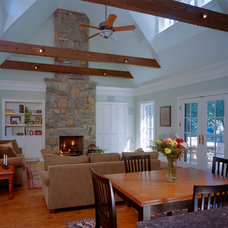 Traditional Family Room by Paul L. Johnson Interiors