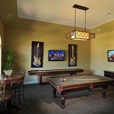 Traditional Family Room by Adam Wilson Custom Homes