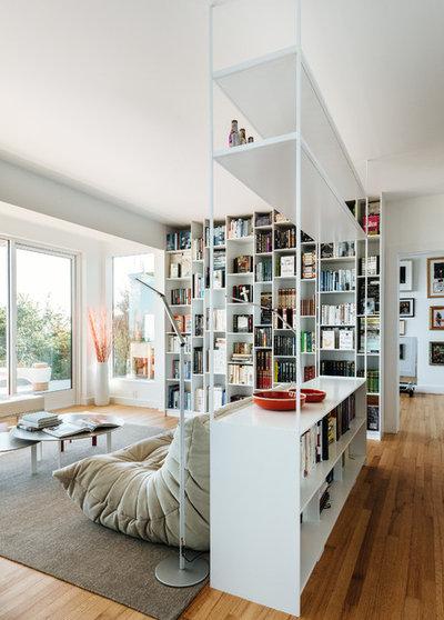 cloisonner avec une biblioth que. Black Bedroom Furniture Sets. Home Design Ideas