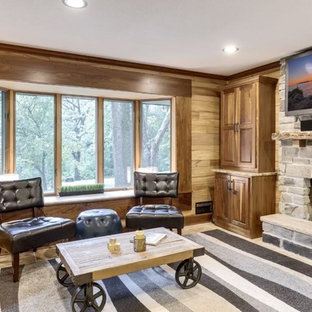 Charcoal Canyon Thin Stone Veneer Interior Fireplace