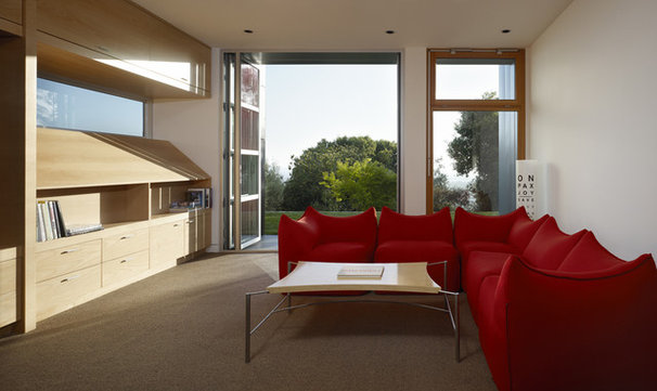 Contemporary Family Room by Charles Debbas Architecture