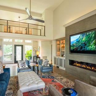 Charleston: TV over Fireplace