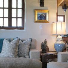 Mediterranean Family Room by Charmean Neithart Interiors, LLC.