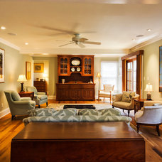 Traditional Family Room by Knight Architects LLC