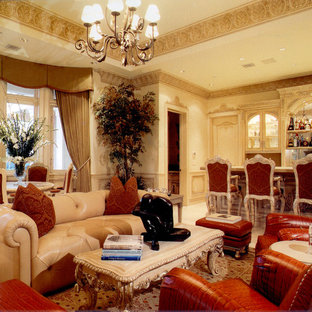 Example of a classic game room design in Los Angeles