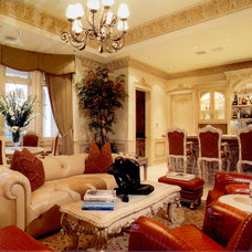 Traditional Family Room by Charles Hefner Architect