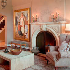 Traditional Family Room by Francois & Co