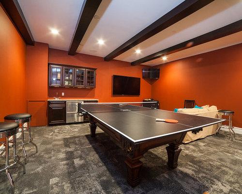 klassische wohnzimmer mit orangefarbenen w nden ideen. Black Bedroom Furniture Sets. Home Design Ideas