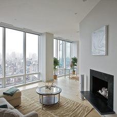 Contemporary Family Room by Marie Burgos Design