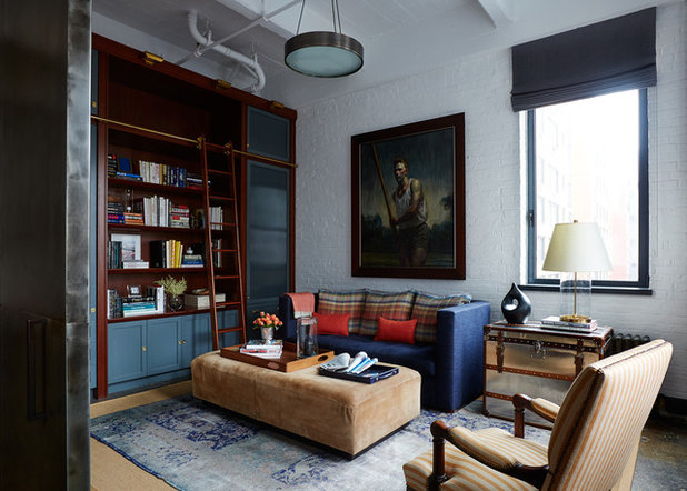 Traditional Family Room by BK Interior Design