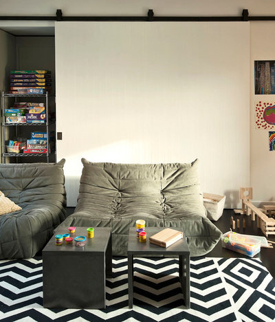 Contemporary Family Room by Tamara Hubinsky Interiors