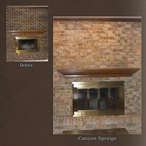 chicago fireplace brick staining project