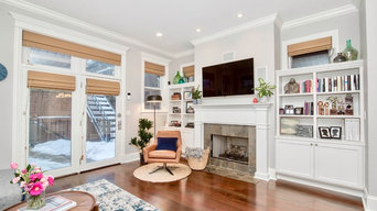 Chicago single family home main floor interior design project