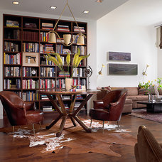 Contemporary Family Room by Amy Lau Design