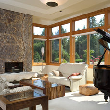 Contemporary Family Room by Alan Mascord Design Associates Inc