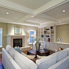 traditional family room by Christian Rice Architects, Inc.