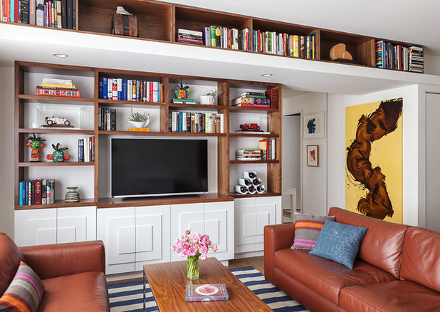 Contemporary Family Room by Michele Lee Willson Photography