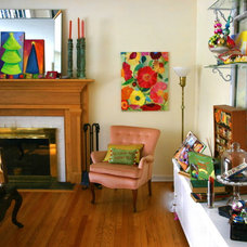 Eclectic Family Room Chromatic Christmas