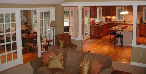 Traditional Family Room by The Churchill Company  MA