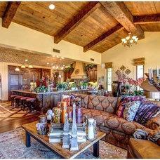 Mediterranean Family Room by MasterWork Definitive
