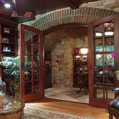 traditional wine cellar by Gardner/Fox Associates, Inc