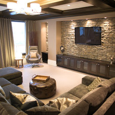 Contemporary Family Room by Lyla Veinot Designs